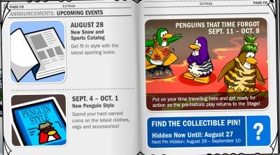 Club Penguin Times Upcoming Events