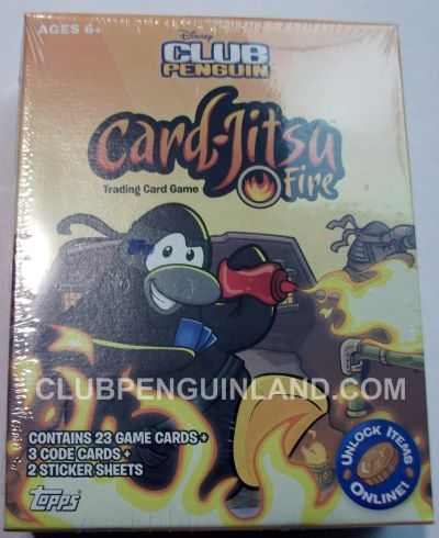 Club Penguin Card-Jitsu Fire Cards Box
