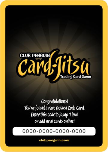 Club Penguin Card Jitsu Golden Card