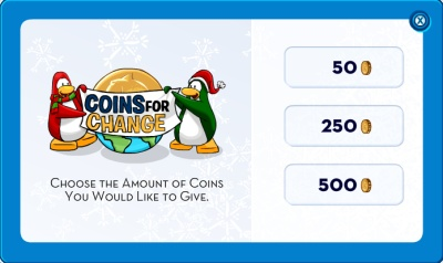 Coins for change amounts