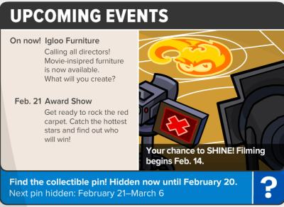 Image of the upcoming events for Igloo Furniture and the Feb 21 Award Show