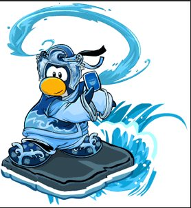Image of the card-jitsu water penguin