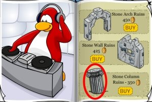 Club Penguin Guitar Stand