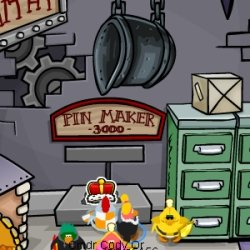 Image of the King's Crown Pin on Club Penguin