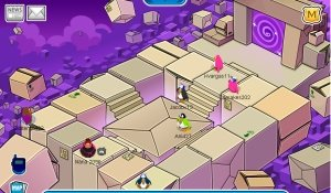 Image of the Box World in Club Penguin