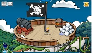 mage of Rockhopper's ship from the crow's nest
