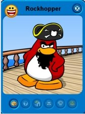 Image of Rockhopper's Player Card from Club Penguin