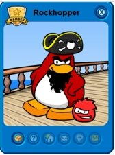 Image of Rockhopper Walking Yarr from Club Penguin