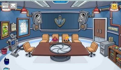 Image of EPF agent room on Club Penguin